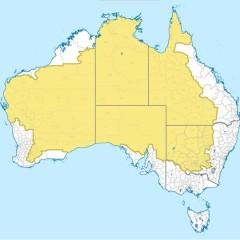 オーストラリアの人口分布。